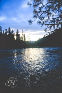Landscape photography Selway River North Idaho