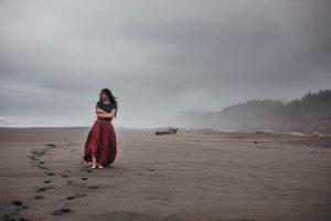 foggy california coastline gold bluffs campground redwoods national forest wedding photographer