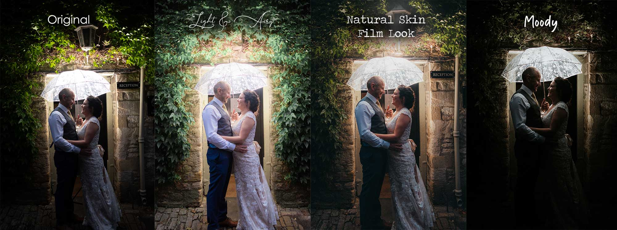 simple explanation of different wedding photography styles
