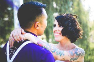 Moody wedding photography boise idaho brides with tattoos