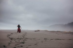 foggy california coastline gold bluffs campground redwoods national forest wedding photographer