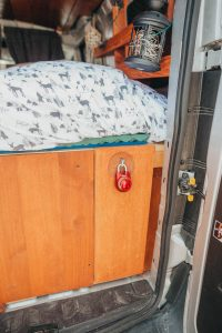 Dodge Ram Promaster City Van Conversion Shelves and storage