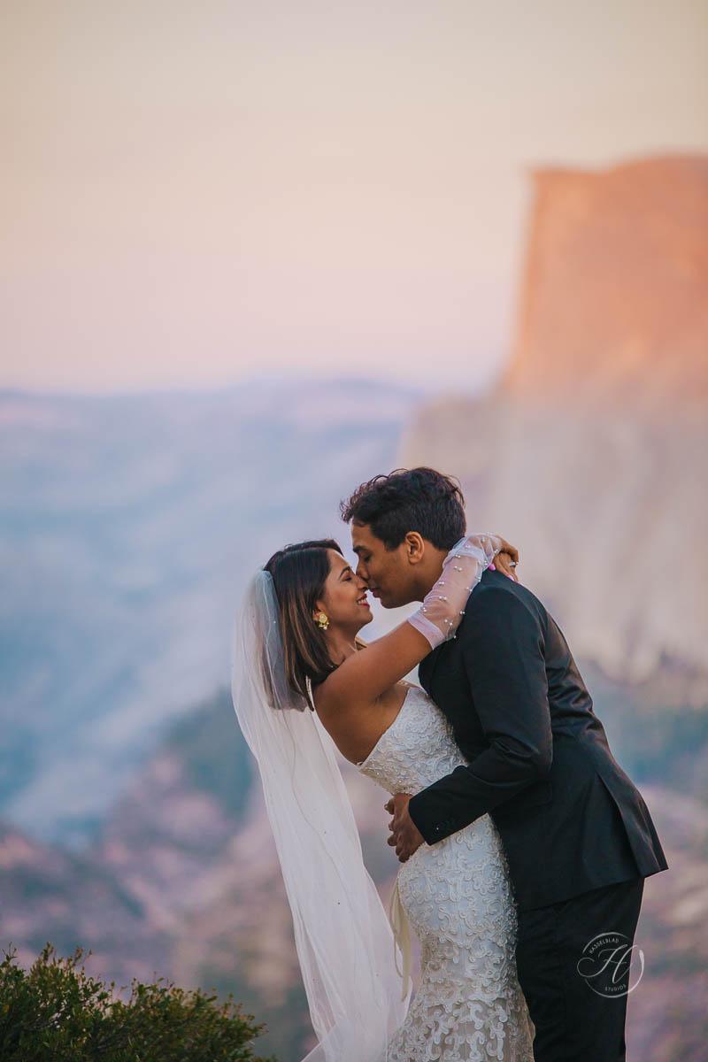 Yosemite elopement photography inspiration Washburn Point Indian Bride