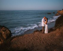sunrise elopement el matador beach wedding photography